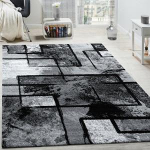 Covor Alaya negru / gri , 60 cm x 100 cm