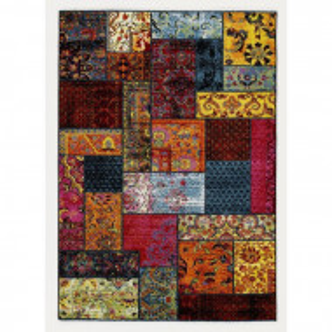 Covor Jeanne, polipropilena, rosu/galben, 160 x 230 cm