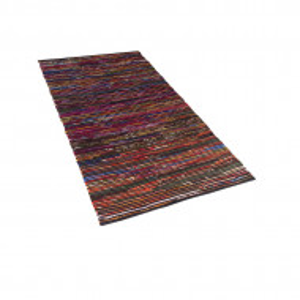 Covor lucrat manual Bartin, multicolor închis, 80 x 150 cm