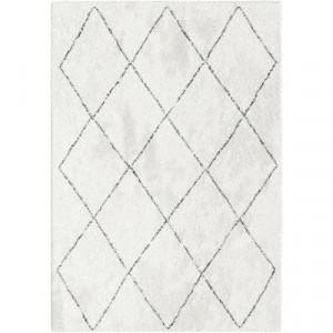 Covor Mcrae, polipropilena/iuta, alb, 120 x 170 cm