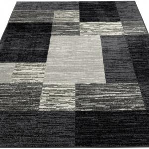 Covor Melvin My Home, negru/gri, 60 x 90 cm