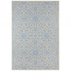 Covor Nebo, polipropilena, albastru, 200 x 290 cm