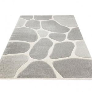 Covor Stone My Home, 80 x 150 cm, argintiu