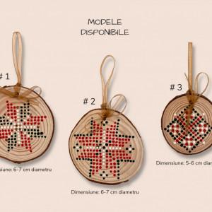 Decoratiune de Craciun Cross, d. 6-7 cm
