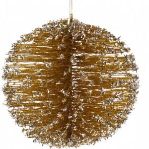 Decoratiune Karll Glob auriu, 15 cm
