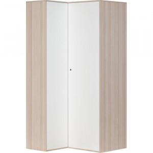 Dulap de colt, PAL, acacia/alb, 210 x 105 x 100 cm