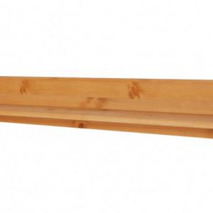 Etajera Mette lemn masiv, maro, 90 x 15 x 15 cm