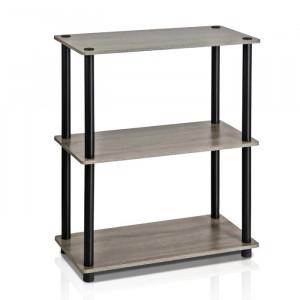 Etajera, PAL, negru/gri, 75 x 60 x 29 cm