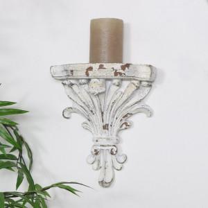 Etajera Vintage, ceramica, alb, 22 x 19 x 9.5 cm