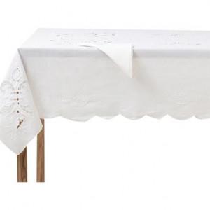 Față de masă Toscano, in / bumbac, 178x220cm