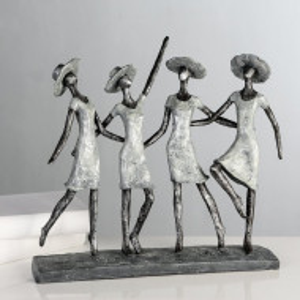 Figurina Renfroe, plastic, antracit, 34 x 34 x 37 cm