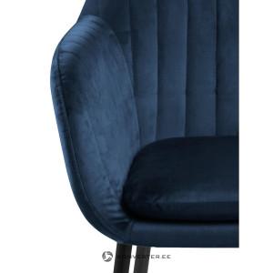 Fotoliu Emilia, lemn de stejar/poliester, albastru inchis, 57 x 59 x 83 cm