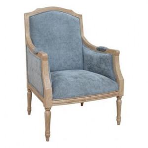 Fotoliu Maira, MDF, albastru, 105 x 74 x 66 cm