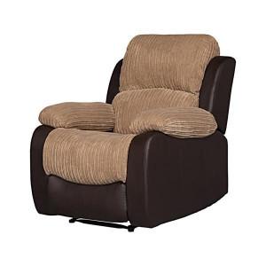 Fotoliu recliner manual Beurket, negru / maro