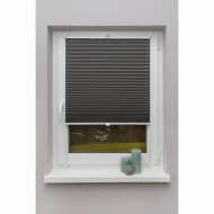 Jaluzea Klemmfix Fyn, tesatura, gri inchis, 90x130 cm