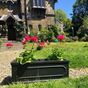 Jardiniera Heritage, negru, 22 x 60 cm