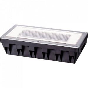Lampa de exterior Solar Box, metal/plastic, neagra, 20 x 5 x 10 cm, 6w