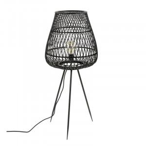 Lampadar Skyler, lemn masiv, negru, 103 x 42 x 42 cm, 40w