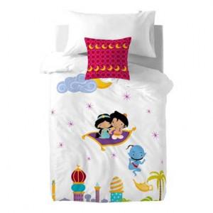 Lenjerie de pat din bumbac pentru pilotă și pernă Fox Aladdin, 140 x 200 cm