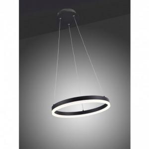 Lustra tip pendul LED Titus aluminiu / sticla acrilica, 1 bec, diametru 60 cm, negru, 230 V