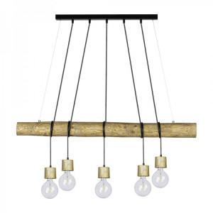 Lustra tip pendul Trabo Pino, lemn/metal, 115 x 150 x 12 cm