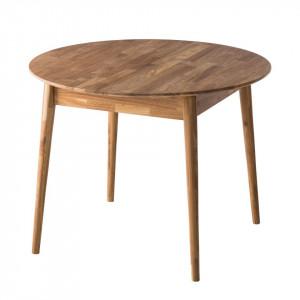 Masa AmburWOOD rotunda din lemn masiv 100cm
