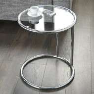 Masa laterala Ciara, crom/sticla, 55 x 40 cm
