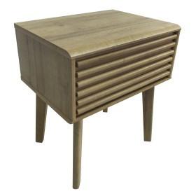 Masă laterală din lemn masiv, 55.1 x 48 x 38 cm