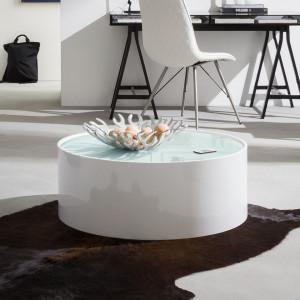 Masuta de cafea Lounge - alb lucios- 80cm