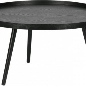 Masuță Mesa rotundă din lemn, neagră, 78 x 39 cm