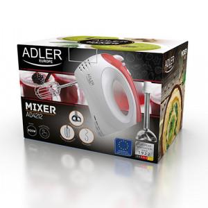 Mixer Adler AD 4212 alb/portocaliu, otel inoxidabil, 300 W, 5 viteza