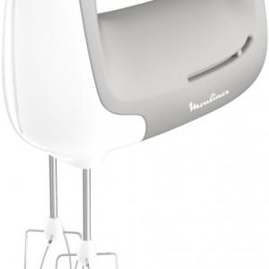 Mixer de mana Moulinex HM450, alb/gri, 18,4 x 13,1 x 7,3 cm