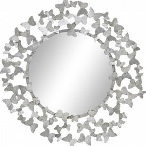 Oglinda Butterfly, argintiu, 92 x 92 cm