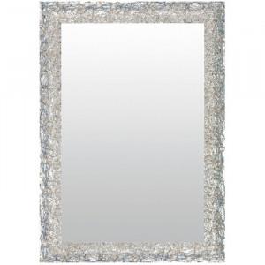 Oglindă de perete Hayley, argintie, 42 x 92 cm