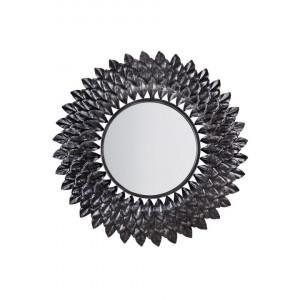 Oglinda de perete LARRAU argintie, diametru 70 cm
