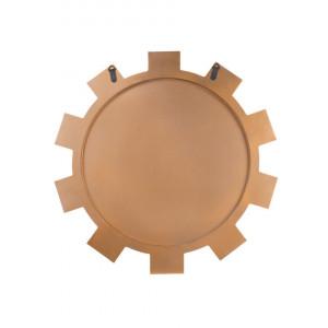 Oglindă de perete ROZEL, auriu, ø 80 cm