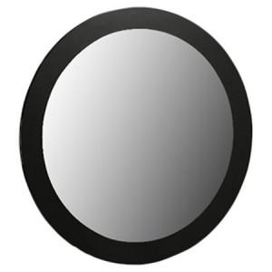 Oglindă rotundă pentru masa de toaleta, negru, 80 x 80 cm
