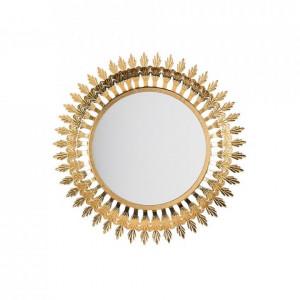 Oglindă Vorey, auriu, ø 60 cm