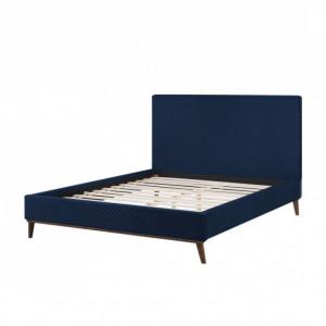 Pat Bayonne din catifea, albastru, 160 x 200