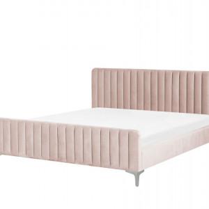 Pat tapitat Lunan, roz, 102 x 192 x 214 cm