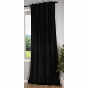 Perdea Shuaib, negru, 135 x 280 cm