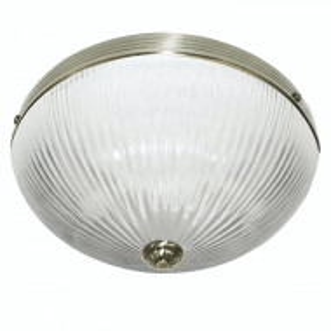 Plafoniera Flush VII sticla/otel, alb, 2 becuri, 220 V