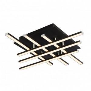 Plafoniera Matrix, LED, negru, 46 x 9 x 46 cm, 23w
