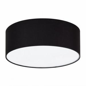 Plafoniera Summa I metal/material textil, negru, 3 becuri, diametru 50 cm, 220 V
