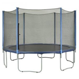 Plasa de siguranta pentru trambulina, negru, 427 x 427 cm