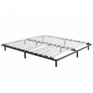 Platforma pat, negru, 24 x 140 x 200 cm
