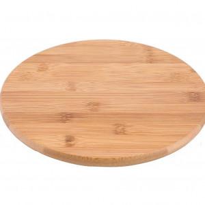 Platou Lazy, maro, 25 cm, bambus
