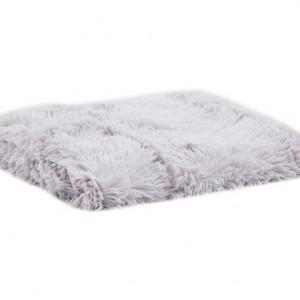 Pled Fuffy gri perla, 130x160 cm