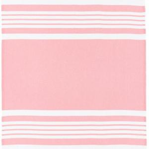 Prosop de plajă cu dungi și franjuri cu dungi, roz/alb