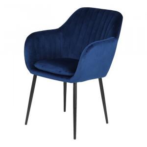 Scaun McNair, textil, albastru, 83 x 57 x 59 cm